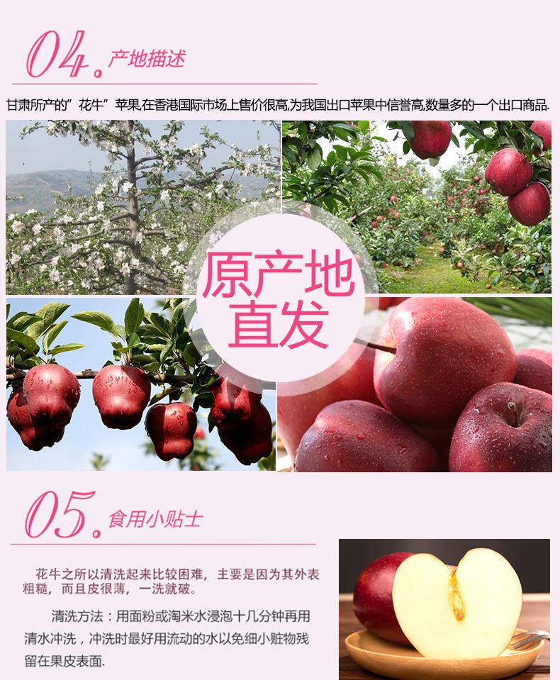 希源 花牛苹果 国产红蛇果 5斤装 果香醇香